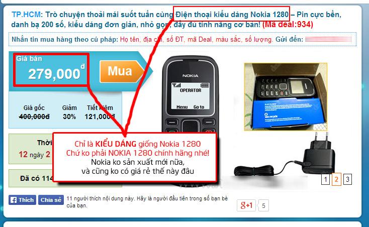 Cách kiểm tra Nokia 1280 và 1202 chính hãng hay hàng TQ nhái