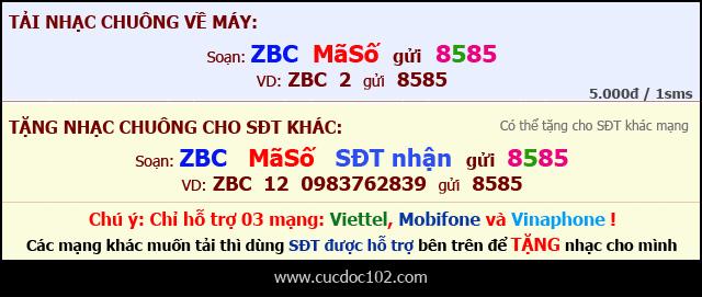 tai nhac don am cho 1280 bang sms